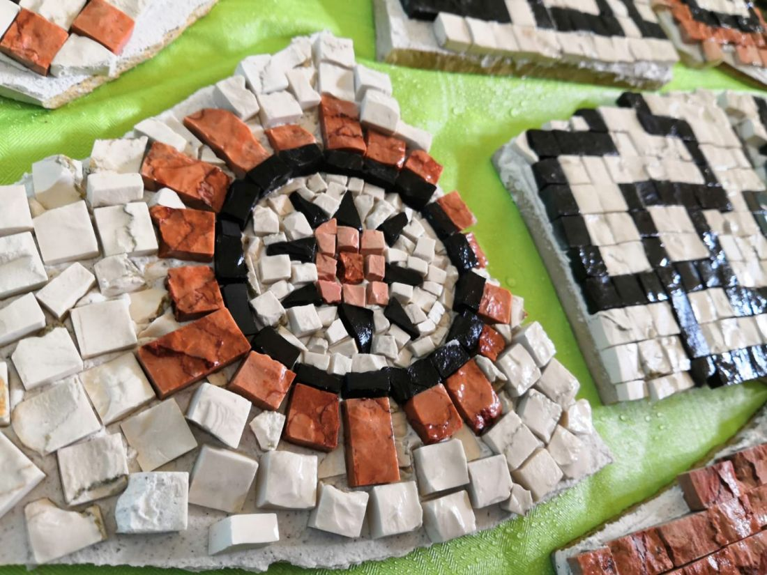 Rome Tour: CREATE A MOSAIC WITH COLORED MARBLE